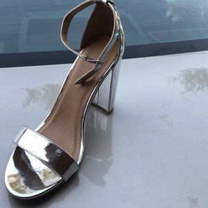 Size 8 Charlotte Russe Size 8 silver shoe